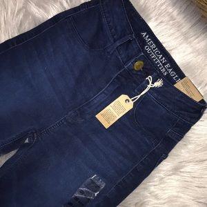NWT American Eagle Sky High Indigo Jegging Jeans